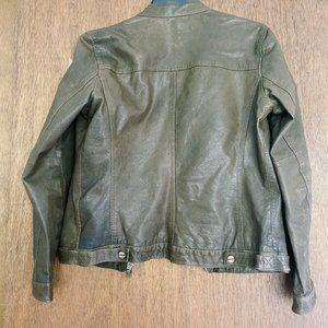 MICHAEL Michael Kors Jackets & Coats - MICHAEL Michael Kors Leather Jacket in Olive